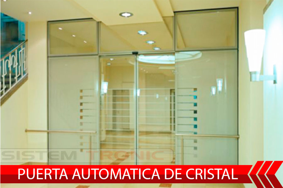 puerta automatica de cristal