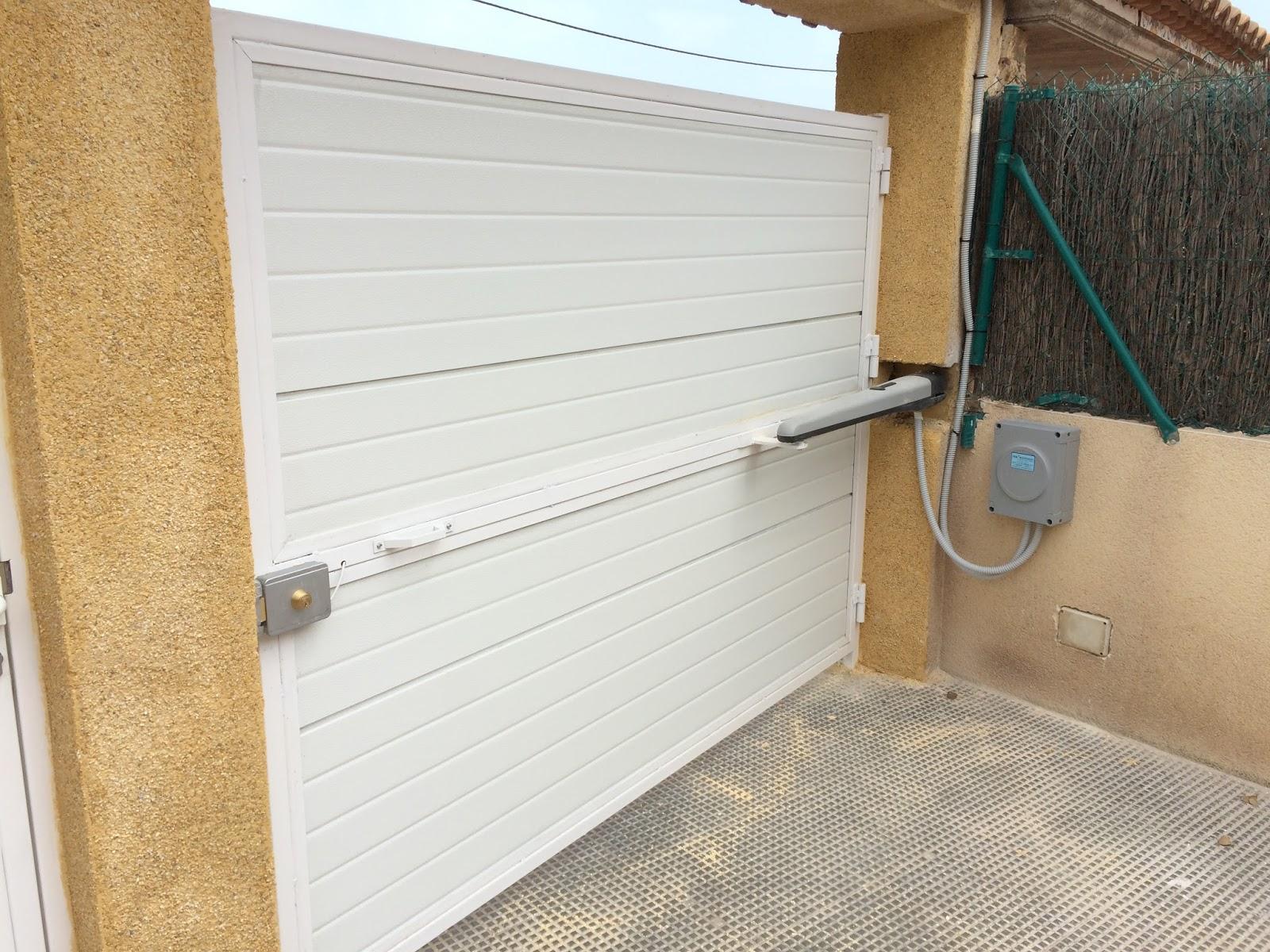 puerta batientes motor nice 4024 acoplado una chapa eléctrica